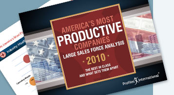 America's Most Productive Companies Large Sales Force Analysis