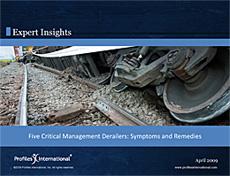 5 Critical Management Derailers: Symptoms & Remedies
